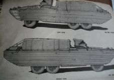 GMC DUKW. 21/2 ton 6x6 amphibian.List of all service parts.ORD9SNL G-501.
